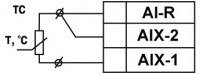 Схема подключения термометра сопротивления