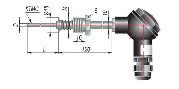 Преобразователь термоэлектрический с коммутационной головкой на основе КТМС модель 295