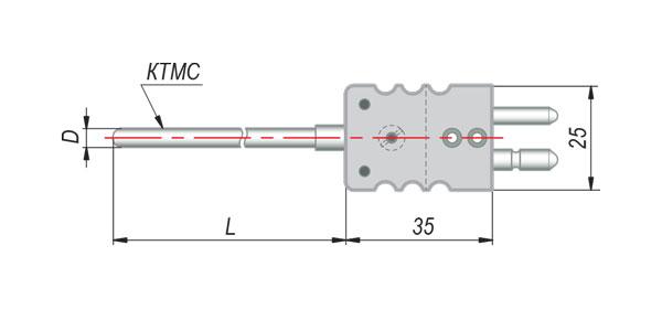 Конструктивные исполнения термопар с кабельным выводом модель 284
