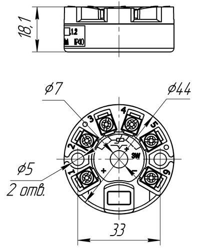 Габаритный чертеж НПТ-3