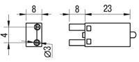 Габаритные размеры модуля LED-индикации