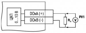 Схема подключения нагрузки к ВЭ типа «У»
