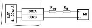 Схема подключения нагрузки к ВЭ типа «И»