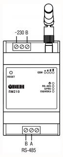 Схема подключения ПМ210
