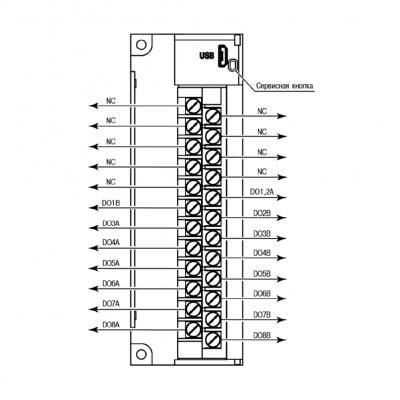 Загальна схема підключення МУ210-401