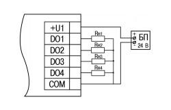 Схема підключення МУ210-410