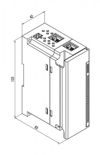 Габаритный чертеж МВ210