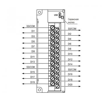 Общая схема подключения МВ210-202, МВ210-204