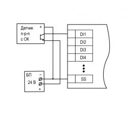 Схема подключения датчиков n-p-n типа
