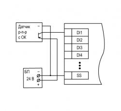 Схема подключения датчиков p-n-p типа