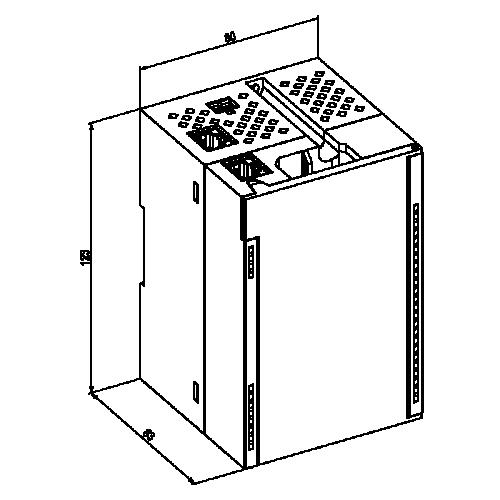 Габаритний креслення МК210
