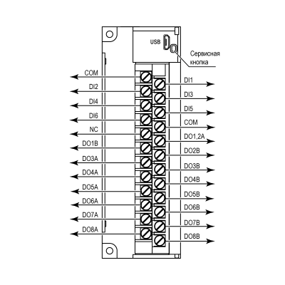 Загальна схема підключення МК210-301
