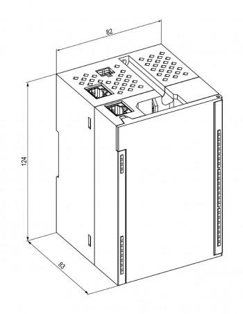 Габаритный чертеж МВ210-212(214)