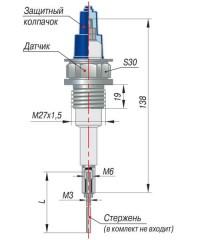 Конструктивное исполнение одноэлектродного датчика ДС.2