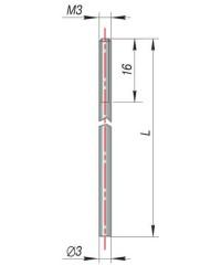 Конструктивное исполнение стержня (электрода)