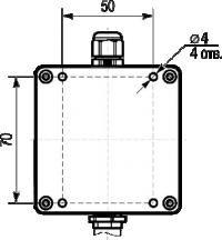 Габаритные размеры корпуса датчика температуры и влажности ПВТ100