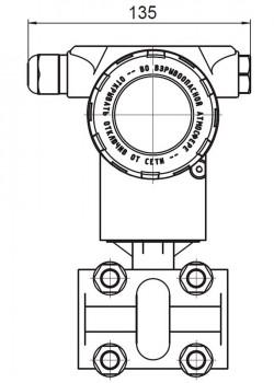 Конструктивне виконання датчика ПД200-ДД моделі 155