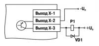 Схема подключения нагрузки к ВУ вида К