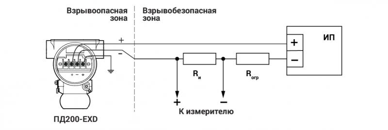 Схема подключения ПД200-ДИ-Exd