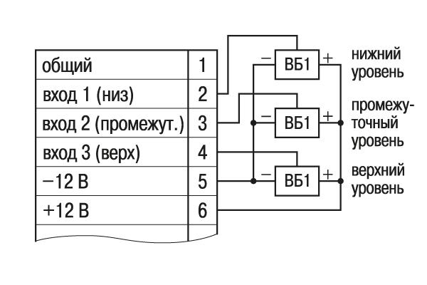 Схема подключения емкостных переключателей