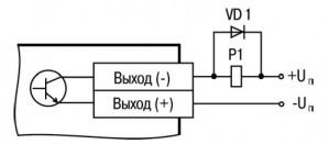 Схема подключения нагрузки к ВЭ типа «К»