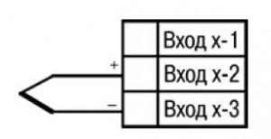 Схема підключення термопари