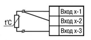Подключение термометра сопротивления или резистивного датчика по трехпроводной схеме