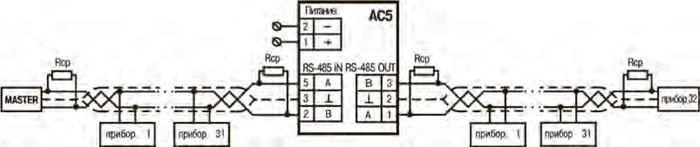 Схема подключения АС5