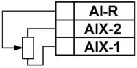Схема подключения датчика положения резистивного типа 0…900 Ом или 0…2000 Ом
