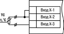 Двухпроводная схема подключения ТС
