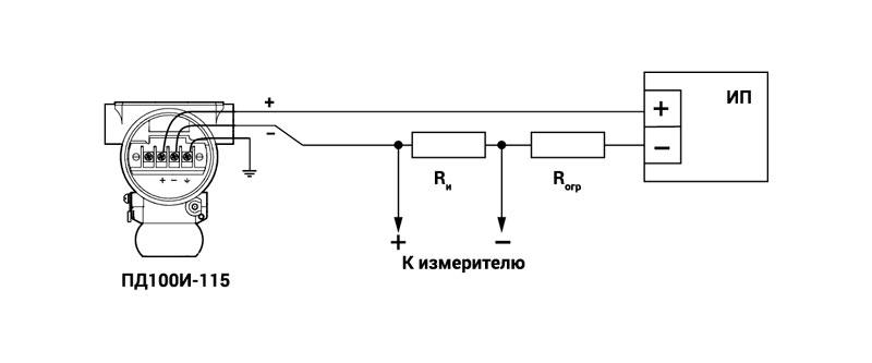 Схема підключення ПД100І