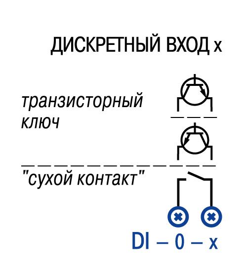 Схема подключения датчиков к дискретным входам ПЛК150