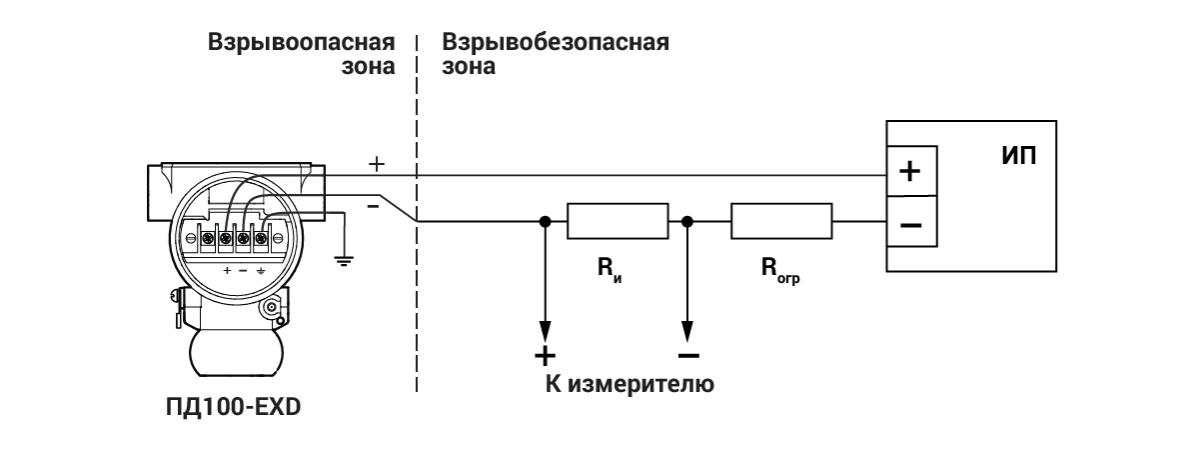 Схема подключения ПД100-EXD